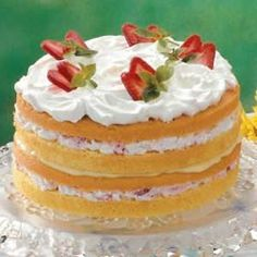 Strawberry Custard Torte Recipe