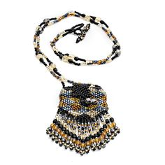 azuni beaded amulet pouch necklace
