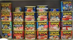 Royce's SPAM Collection: cans of SPAM, photos and more