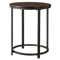 Accent table of wood and metal, $29.98 (Target) spray paint aged brass