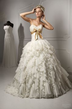 Gold Couture Wedding Dress | capelli-couture-bridal-2013-luigi-strapless-wedding-dress-ruffle-ball ..