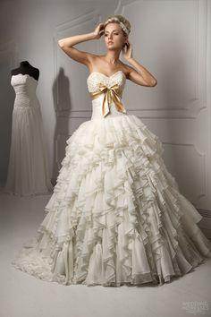 Gold Couture Wedding Dress | capelli-couture-bridal-2013-luigi-strapless-wedding-dress-ruffle-ball ..