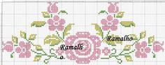 Resultado de imagem para monogramas em ponto cruz com borboletas