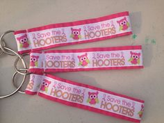 Save the Hooters  Wristlet Breast Cancer on Etsy, $5.00