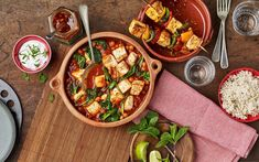 Chickpea, spinach and Apetina® Paneer curry