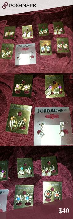 8 pairs of fashion earrings beautiful Elegant all pairs for one price or if you want to choose 2 pairs let me know or 4 let me know the funds will go for gifts for sick kids fighting diseases like Hiv aids on Christmas for red ribbon awareness month hiv aids. Sara's Inspirational Angels will also put you name on our Angel board and announce all names that help us raise funds. jordach Accessories