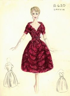 Bergdorf Goodman Archives. Cocktail & Evening Dresses 1950-69