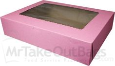 19x14x4 Cupcake Box with window: Designed to hold 12 Jumbo cupcakes and NOW 24 Regular cupcakes!