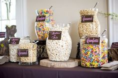 Our Favorite DIY Wedding Popcorn Bars   Candy Cake Weddings