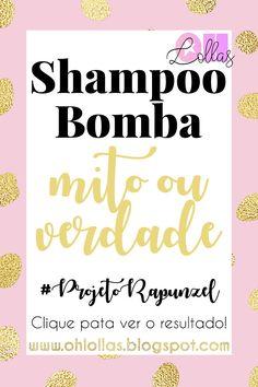 Shampoo bomba, mito ou verdade? Testei e te conto tudo sobre o famoso shampoo com monovim a que promete cabelos longos em pouco tempo. #projetorapunzel #projetopocahontas #projetomerida #shampoobomba #óleoderícino #crescecabelo #ohlollas