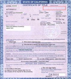 Le Transfer Ca Dmv Certificate Of - California Dmv Replace Lost Pink Slip Bill Of Sale Template, Id Card Template, Passport Template, Birth Certificate Template, Printable Certificates, Drivers License California, Payroll Checks, Drivers Permit, Love