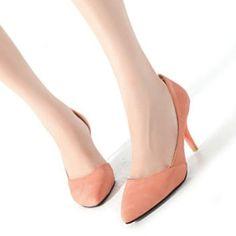 Attractive Orange Suede Pointy Toe Closed Toe Stiletto High Heel Party D'Orsay Pumps