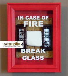 22 best in case of emergency break glass images on pinterest in case of fire break glass shadow box smores hershey bar marshmello maxwellsz