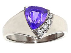 Tanzanite and #Diamond #Ring