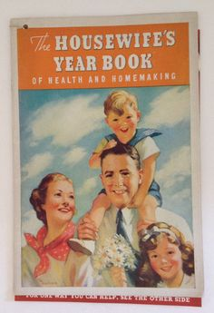 Vintage Cookbook 1937 Kellogg's Housewife's Year Book Almanac Recipes Calendar For Homemakers