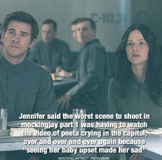 Poor Gale. His face makes me want to cry. Also, Katniss is very underfed in this movie so her lack of color in her face was a great part the makeup artists followed though with.