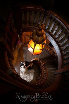 Spiral Staircase at the Engineer's Club in Baltimore | Maryland Wedding Photographer www.KimberlyBrooke.com