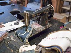 vintage sewing machine, Evisu denim Designed By WRK Design Raw Denim, Blue Denim, Denim Jeans, Evisu Jeans, Inside Shop, Antique Sewing Machines, Japanese Denim, Fashion Collage, Denim Fabric