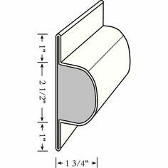 Taylor Perimeter Single Lock and Post Bumper, Medium 4-1/2 inch x 1-3/4 inch, White