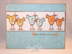 Love these chicken stamps!