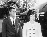 President Kennedy and First Lady Jacqueline Kennedy (JBK) depart White House for South America trip, 11:55AM - John F. Kennedy Presidential Library & Museum