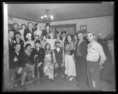 Masquerade party held at the home of Jacob L. Ellman, 719 Harvard Avenue, University City. Photograph taken by Isaac Sievers for Sievers Studio in 1933. Sievers Studio Collection, Missouri History Museum.