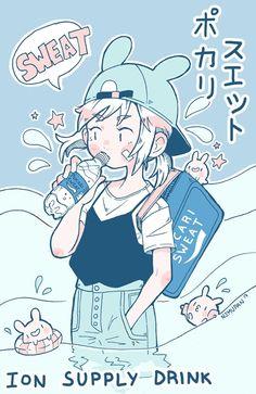 art by nemupan Cartoon Kunst, Anime Kunst, Cartoon Art, Anime Art, Art And Illustration, Illustrations, Pretty Art, Cute Art, Art Pastel