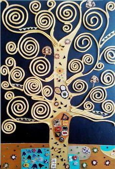 Interpretazione dell'albero della vita di Gustav Klimt. Interpretation of the Tree of Life of Gustav Klimt