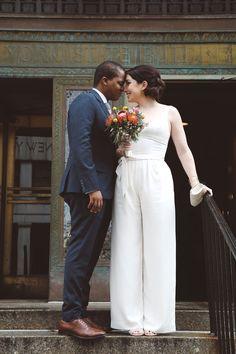 16 Fierce Wedding Jumpsuits For Brides Who Don& Do Dresses Max Azria, Monique Lhuillier, Cute Wedding Ideas, Wedding Styles, Perfect Wedding, Emilio Pucci, Wedding Jumpsuits For Brides, Bridal Gowns, Wedding Gowns