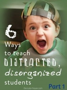 We all have them...a wiggly, distracted child in class.  What to do about them?  Read this guest post from Anne-Marie over at The Tutor House.  She shares practical advice in this two part series.