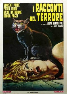 Italian poster of TALES OF TERROR (Roger Corman, 1962), a good anthology of horror stories. They are well produced, well played and well written, though with great licenses on original Poe stories, which are only used as a plot excuse to build new stories about them.