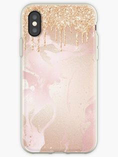 'Gold Glitter Rain Drops on Blush Pink Marble with Gold veins' iPhone Case by MysticMarble Iphone 5se, Iphone 8 Plus, Pretty Iphone Cases, Marble Iphone Case, Pink Marble, Rain Drops, Gold Glitter, Blush Pink, Agate