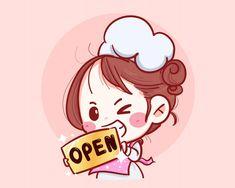 Discover thousands of Premium vectors available in AI and EPS formats Cartoon Chef, Cartoon Logo, Cartoon Art, Cartoon Illustrations, Cute Illustration, Character Illustration, Cute Bakery, Disney Princess Cartoons, Cake Logo Design