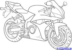 How to Draw a Motorcycle, Step by Step, Motorcycles, Transportation ...