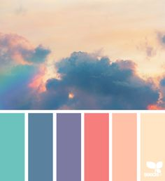 { color dream } image via: The post Color Dream appeared first on Design Seeds. Colour Pallette, Color Palate, Colour Schemes, Color Combos, Color Patterns, Peach Pallette, Summer Colour Palette, Sunset Color Palette, Nature Color Palette