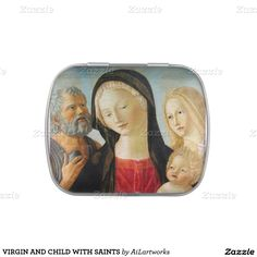 VIRGIN AND CHILD WITH SAINTS JELLY BELLY TIN