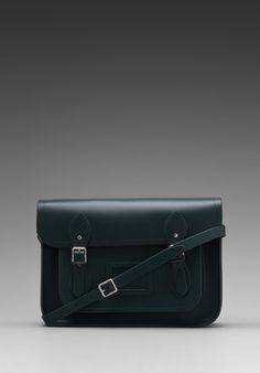 The Cambridge Satchel Company Core Collection 13'' Satchel in Dark Green