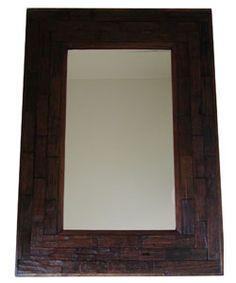 Large Teakwood Wall Mirror (Thailand)