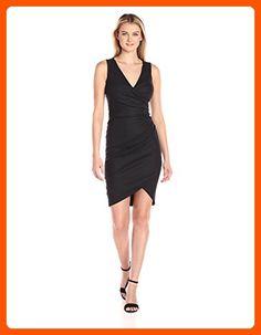 Nicole Miller Women's Stefanie Stretch Linen Dress, Black/Black, 0 - All about women (*Amazon Partner-Link)