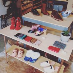 Elizabeth #Dunn #leather products for #sale in @brooklynshoespace in #Williamsburg - come view them this #weekend at our #holiday #party Saturday 12th 5-9pm #shop #local #holiday #party #madeinNY #gifts #wallets #journals