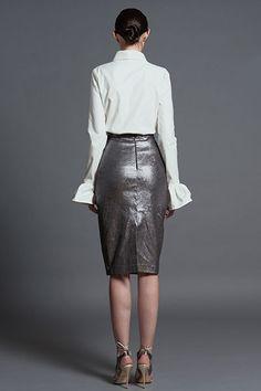 Bel Respiro Skirt AW 2016-17 Office Collection Navitique - detail