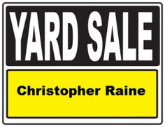 Album cover art for the album Yard Sale by Christopher Raine.