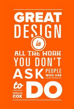 Quotes on Design - Rebekah M Cox - Typographic Poster by Mariusz Ciesla, via Behance