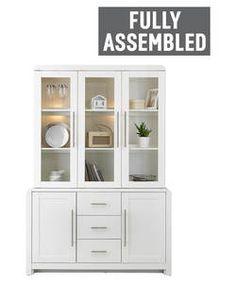 Heart of House Elford 3 Door Display Unit - White.