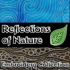 Celebrate the beauty of nature with this collection of 25 nature themed embroidery designs that will fit small hoops and stitch a variety of creative projects. Quilting Projects, Quilting Designs, Machine Embroidery Designs, Embroidered Quilts, Table Runner Pattern, Free Motion Quilting, Machine Quilting, Quilt Blocks, Reflection