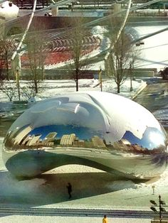Snow on the #Bean. #Chicago