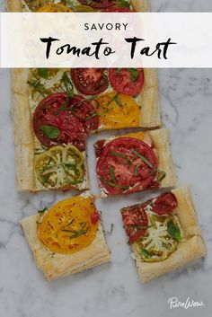 This Savory Tomato Tart Recipe Is Everything We Love About Summer. Just try to stop at one slice. Via @PureWow