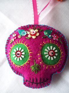 Felt Sugar Skull  I sold on my Etsy store, Leslie's Variety Show.