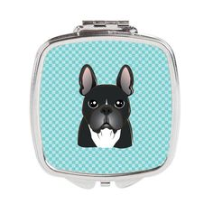 Checkerboard Blue French Bulldog Compact Mirror BB1165SCM
