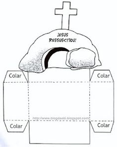 Un huevo muy singular     Materiales    Necesitas un plato de carton recortado en dos semi circulos,  una cruz en color negro  un circulo...